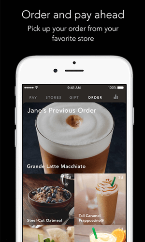 Mobile app development by Starbucks